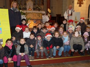 Célébration de Noël avec l'Abbé Lecomte